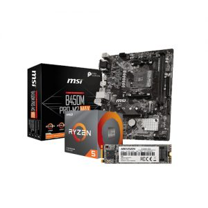 Kit Upgrade PC AMD Ryzen 5 3600 MSI B450M PRO-M2 MAX HIKVISION E100N 128GB M.2
