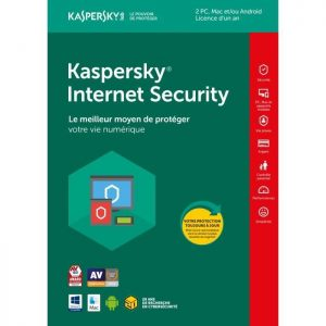 Kaspersky Internet Security 2019 – Licence 2 postes 1 an