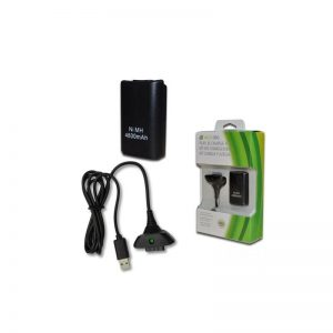 KIT CHARGEUR 1 BATTERIE XBOX-360 4800MAH + CABLE USB XBOX-360